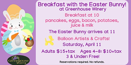 Breakfast with the Easter Bunny! tickets
