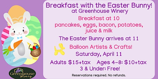 Breakfast with the Easter Bunny!