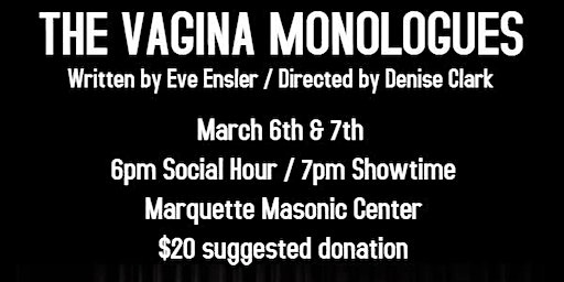 Vagina Monologues - Fundraiser for Pride Fest 2020