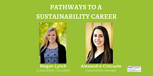 Pathways to a Sustainability Career