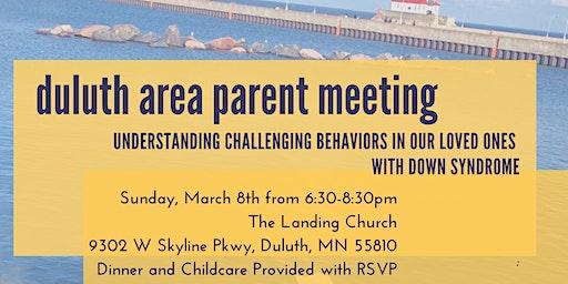 DSAMN Duluth Parent Meeting- Understanding Challenging Behaviors