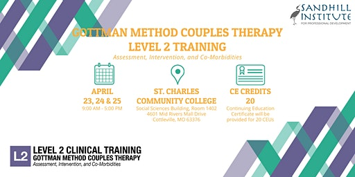 Gottman Method Couples Therapy ​- Level 2 Training