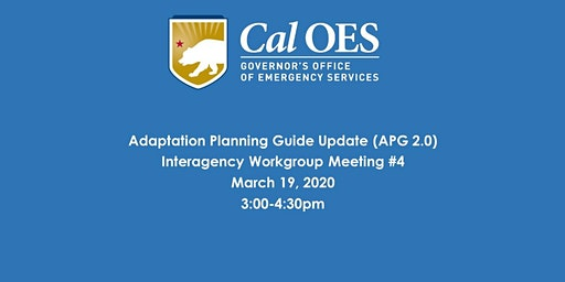 Adaptation Planning Guide 2.0-Interagency Workgroup Meeting #4
