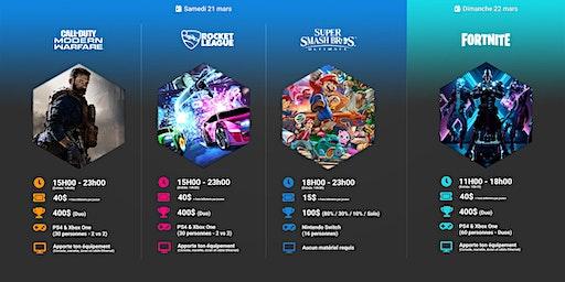 Événement Gaming IV : fin de semaine eSports