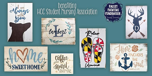 Pallet Painting Fundraiser benefiting HCC Students Nursing Association