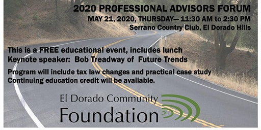 Professional Advisors Forum - 2020