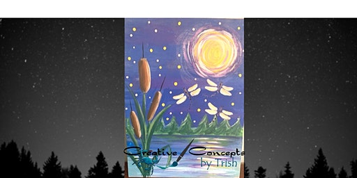 Twinkle in the Night Wood Board or Canvas Paint Night