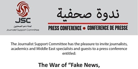 """The War of """"Fake News, Disinformation and Propaganda"""" on Syria  tickets"""