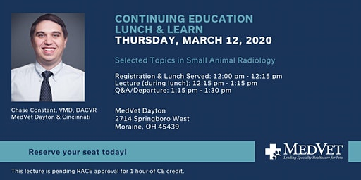 MedVet Dayton CE Lunch & Learn