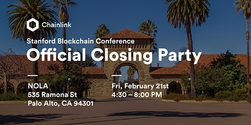 Stanford Blockchain Conference Closing Party Hosted by Chainlink