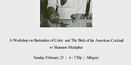 Origins: Bartenders of Color and The Birth of the American Cocktail tickets