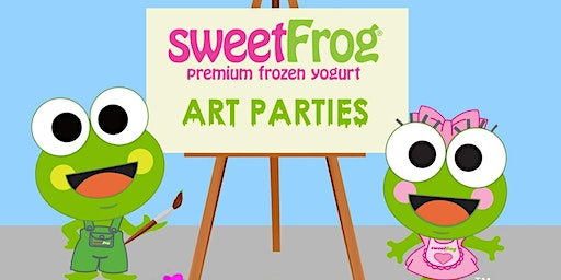 March's Finger-Paint Party at sweetFrog Kentisland