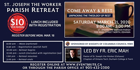 Parish Retreat - Come Away & Rest: Unpacking the Theology of Rest tickets