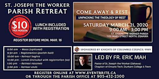 Parish Retreat - Come Away & Rest: Unpacking the Theology of Rest
