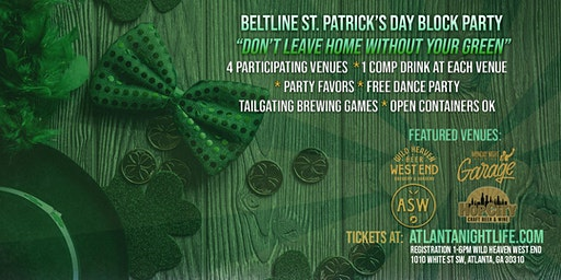 Beltline Atlanta St. Patrick's Weekend Block Party