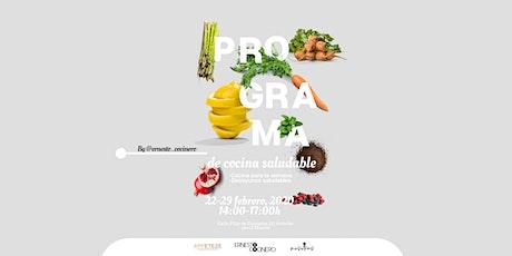 Programa de cocina saludable entradas