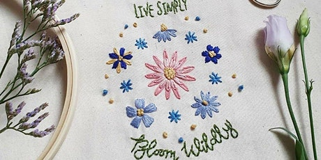 Hand Embroidered Tote Bag - Hand Embroidery Workshop - Sale M33 tickets
