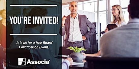 HOA | COA Board Certification Seminar February 27, 2020 @ 6 PM tickets