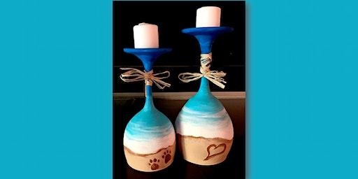 Beach Wine Glass Votive Holders