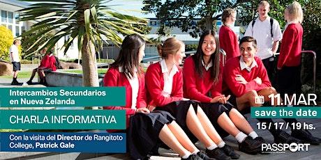 Intercambios Secundarios en Nueva Zelanda / Charla informativa entradas