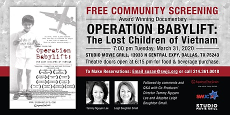 "Free Film Screening ""Operation Babylift"" tickets"