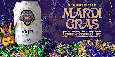 Mardi Gras at Cheeky Monkey  tickets