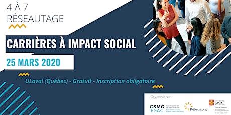 Carrières à impact social - Réseautage billets