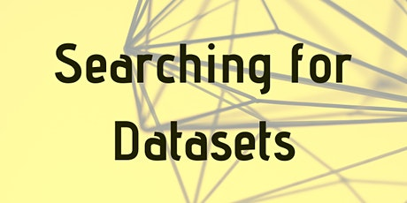 Searching for Datasets tickets