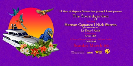 The Soundgarden Cruise - Hernan Cattaneo,Nick Warren,La Fleur, Atish & more tickets