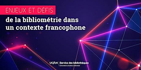 Enjeux et défis de la bibliométrie dans un contexte francophone billets