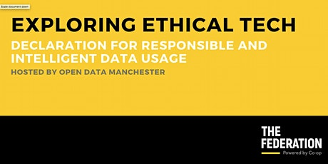 Exploring Ethical Tech | Declaration for Responsible Data Practice tickets