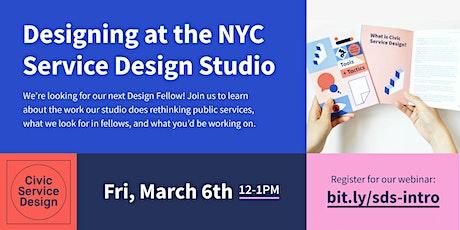 NYC Service Design Studio Fellowship Webinar tickets