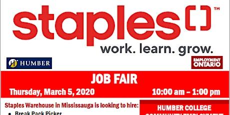 Staples Job Fair tickets