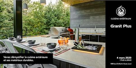 Démystifier la cuisine extérieure et ses matériaux durables. tickets