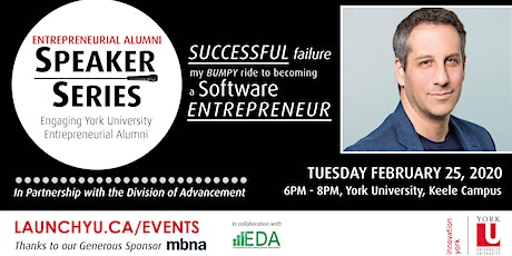 Entrepreneurial Alumni Speaker Series: Successful Failure. My Bumpy Ride to Becoming a Software Entrepreneur tickets