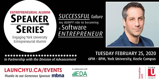 Entrepreneurial Alumni Speaker Series: Successful Failure. My Bumpy Ride to Becoming a Software Entrepreneur