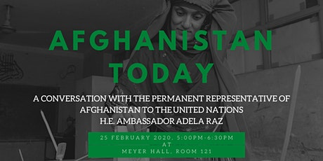 Discussion with Ambassador of Afghanistan to the UN tickets