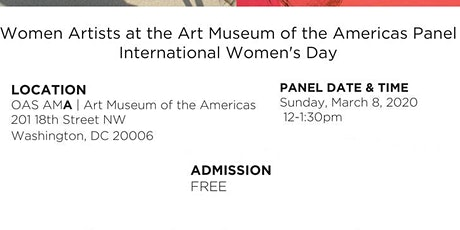 Panel Discussion: Women Artists at the Art Museum of the Americas tickets