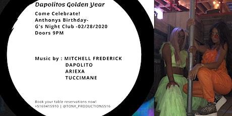 toNYProductions: Anthony G's Birthday Bash- Golden Year tickets