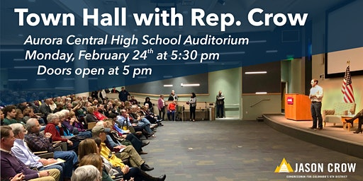 Town Hall with Rep. Jason Crow