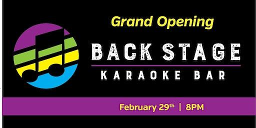 Grand Opening - Backstage Karaoke Bar
