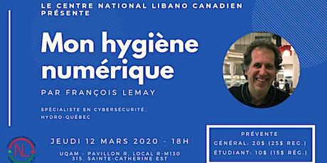 Conférence - Mon hygiène numérique billets