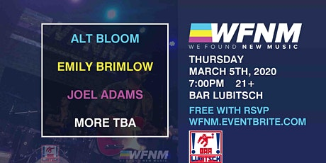 ALT BLOOM / EMILY BRIMLOW / JOEL ADAMS tickets