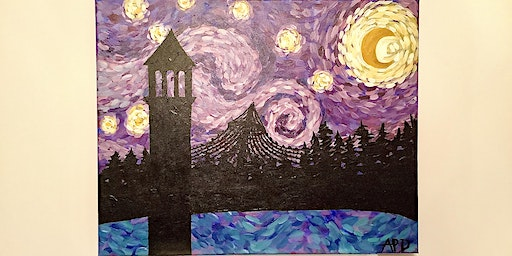 """Sip and Paint Night - """"Lilac City Starry Night"""" @ Beerocracy"""