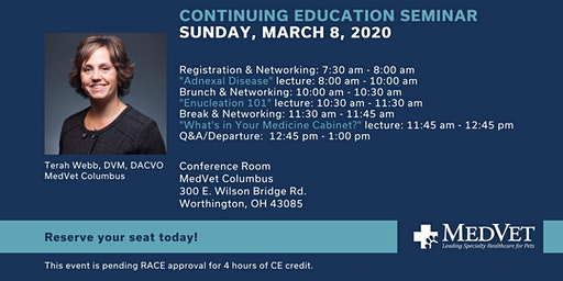 MedVet Columbus CE Seminar