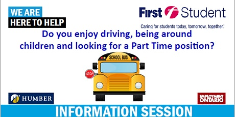 First Class  School Bus Driver Information Session tickets