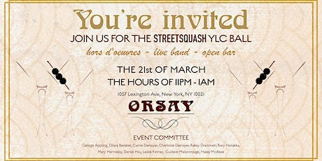 The StreetSquash YLC Ball tickets