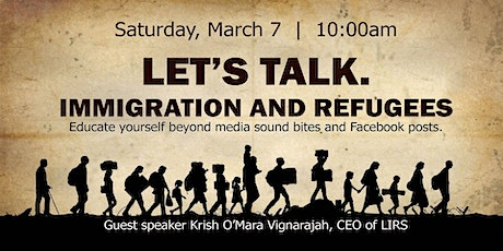 Let's Talk. Immigration and Refugees tickets