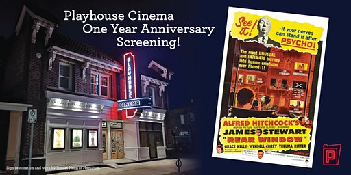 Rear Window — The Playhouse is 1! Free for Members