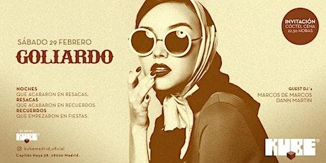 Fiesta Goliardo en Kube: invitación a cena + Guest Dj's entradas